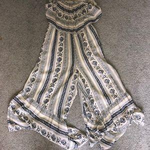 Strapless romper dress